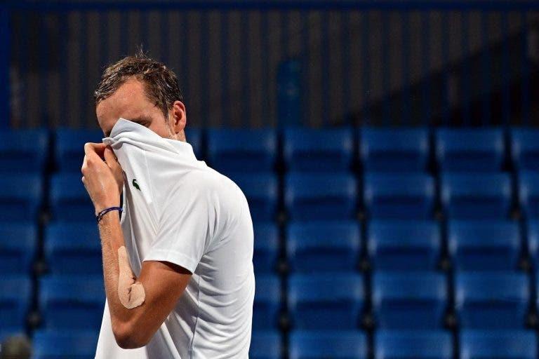 Medvedev lamenta 'azar': «Carreño Busta não vai voltar a jogar como hoje…»