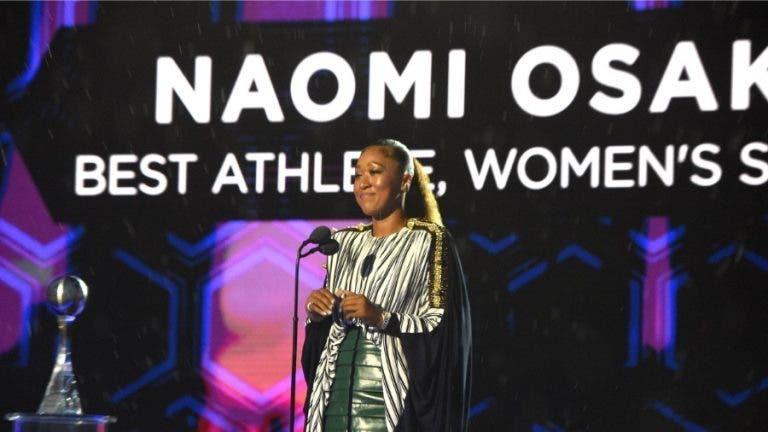 Naomi Osaka distinguida como melhor atleta feminina para a ESPN: «É uma honra»
