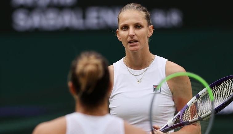 Pliskova e Sabalenka bateram o recorde feminino de ases em Wimbledon