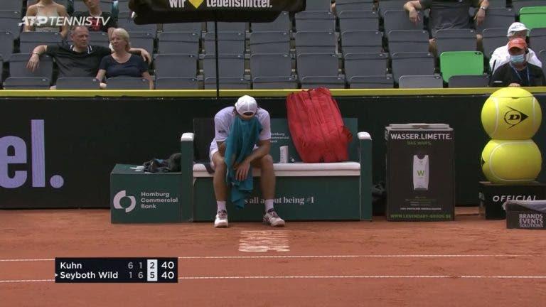 Thiago Wild sente-se mal no final, mas volta às vitórias ATP pela primeira vez desde o título no Chile