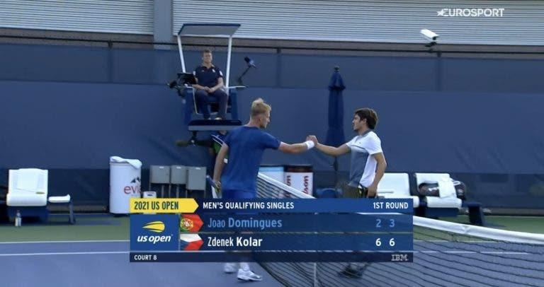 Pedro Sousa e João Domingues eliminados de entrada no US Open