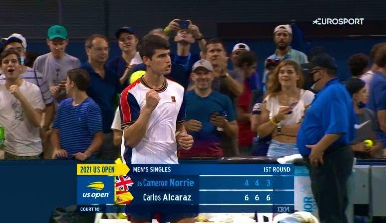 Um miúdo especial: Alcaraz arrasa top 30 no primeiro encontro da carreira no US Open