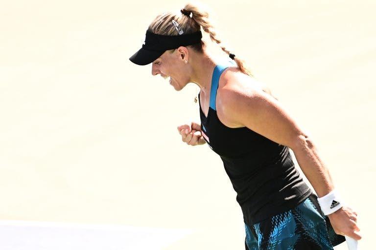 Kerber quebra malapata contra Svitolina e Andreescu volta a perder