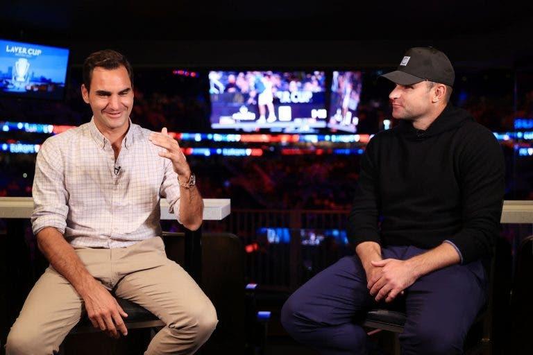 Rivalidade cheia de amizade e… 21 Grand Slams: Federer e Roddick mataram saudades na Laver Cup