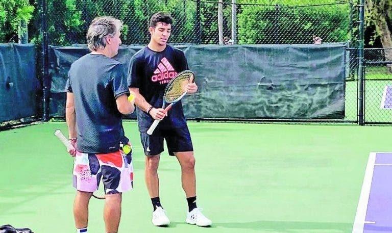 Cristian Garín separa-se do técnico Franco Davin