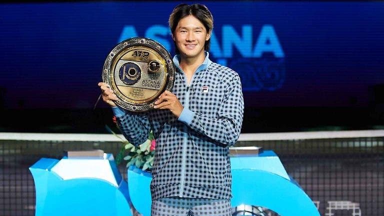 Kwon termina semana de sonho com primeiro título ATP no Cazaquistão