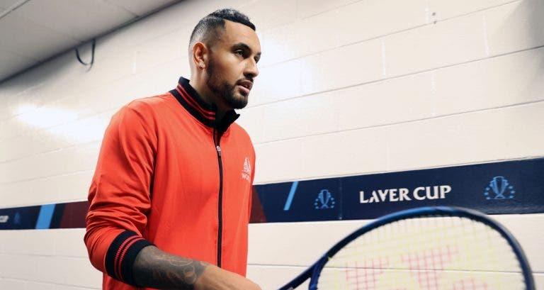Kyrgios não joga mais este ano e admite: «Provavelmente é a minha última Laver Cup»