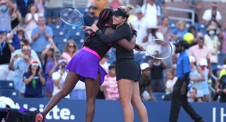 Gauff e McNally batem campeãs de Wimbledon rumo às 'meias' do US Open