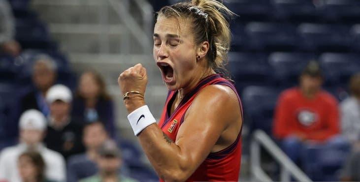 Sabalenka joga muito rumo aos 'oitavos' do US Open