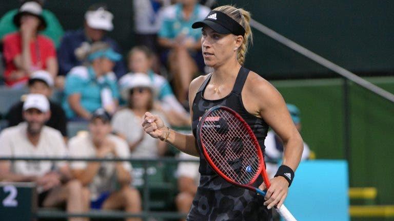 Kerber sobrevive a batalha em Indian Wells, campeã Andreescu também e Sakkari perde