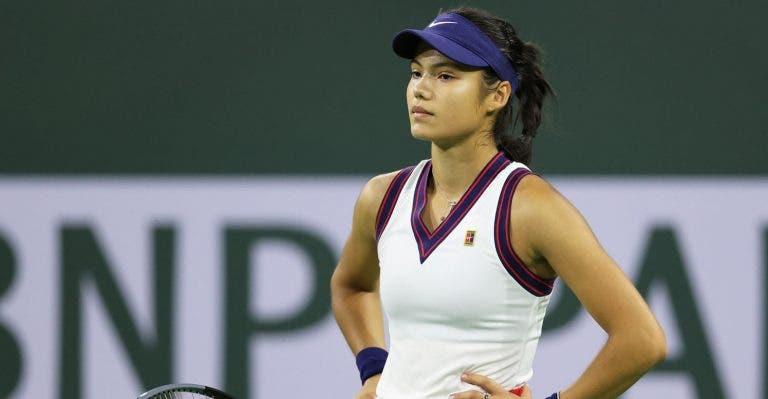 Raducanu desiste de Moscovo e não vai apurar-se para as WTA Finals