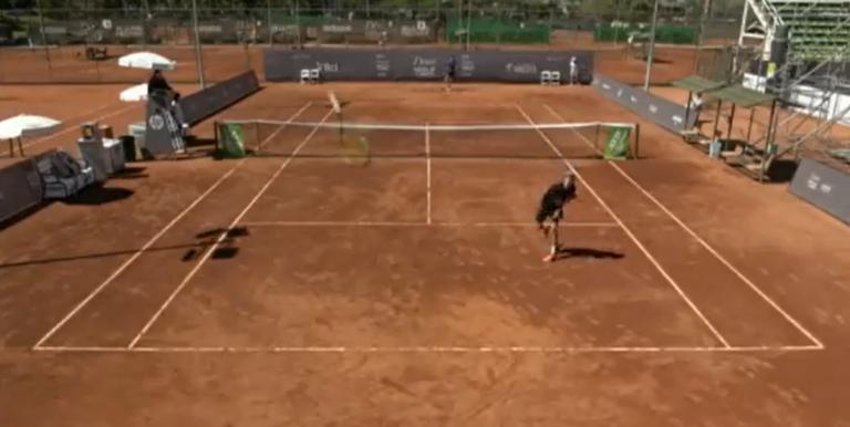 [VÍDEO] Francês perdeu a cabeça e quase acertou com a raquete… na câmera de transmissão