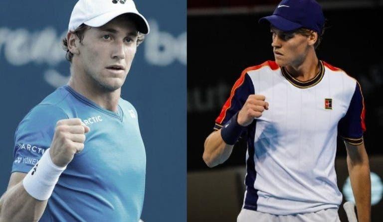 Luta pelas Finals ao rubro: Ruud e Sinner não facilitam antes de (quase) decisivo Indian Wells