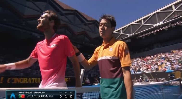 João Sousa 'apanha' Nishikori na primeira ronda de Indian Wells